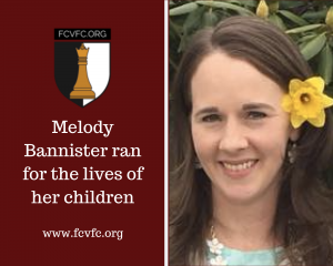 Melody Bannister ran for the lives of her children