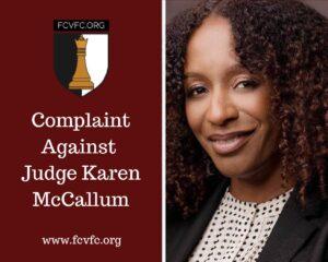 Complaint against Judge Karen McCallum