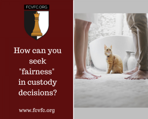 """How can you seek """"fairness"""" in custody decisions?"""